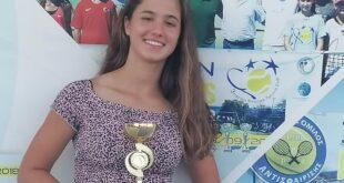 Zakynthos:- Zakynthian tennis star, Ismini Zougra first place for Under 16's.